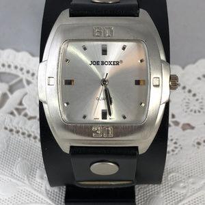 Joe Boxer Accessories - Vintage Joe Boxer Leather Cuff Bracelet Watch